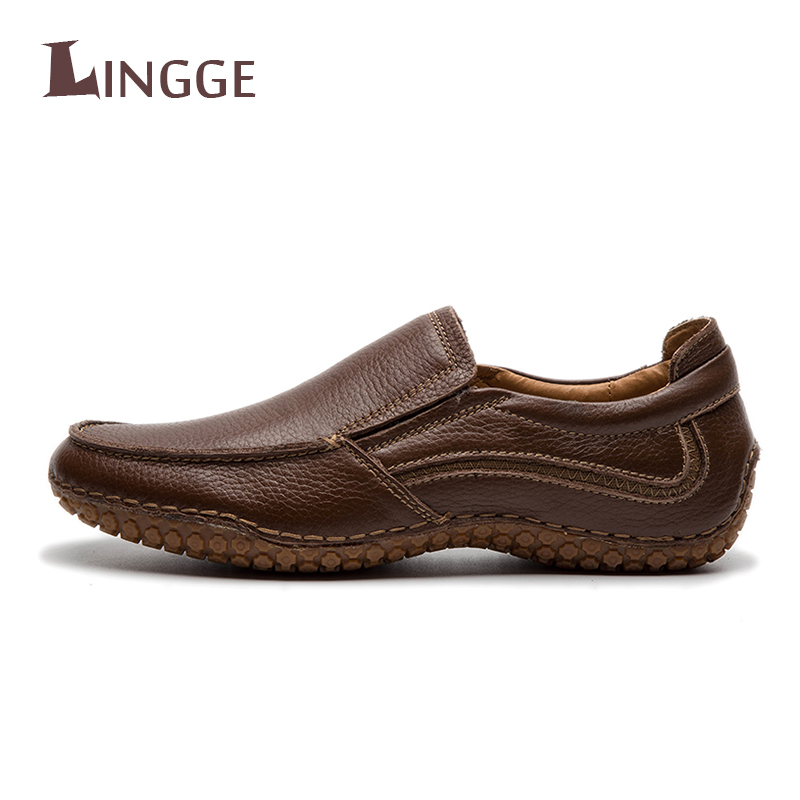 2018 New Men Casual Genuine Leather Shoes Fashion Men Shoes Leather Men Loafers Moccasins Slip-On Men's Flats Loafers Male Shoes new casual shoes winter fur men loafers 2017 slip on fashion drivers loafer boat shoes genuine leather moccasins plush men shoes