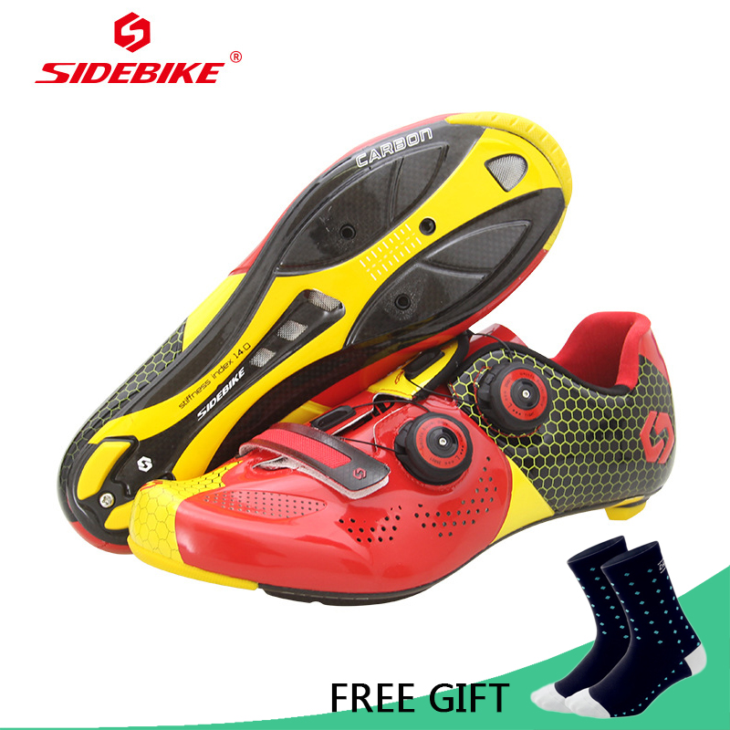 Sidebike Carbon Fiber Road Cycling Shoes Ultralight Breathable Bicycle Self-Locking Racing Shoes Bike Sneaker Sapatilha Ciclismo sidebike cycling shoes carbon fiber racing road bike sneakers zapatillas ciclismo chaussure velo self locking fietsschoenen