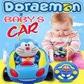 Детские мальчики девочки Дистанционного Управления Электрические игрушки автомобиль дети RC Автомобиль высокоскоростной Симпатичные Doraemon музыкальный свет Ребенок Автомобиль игрушки случайный Цвет