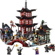 Lepin 06022 Ninjagoe Temple Of Airjitzu Blocks Brick Toys Set Boy Game Team Castle Compatible with Legoed Decool Sluban Kid Gift