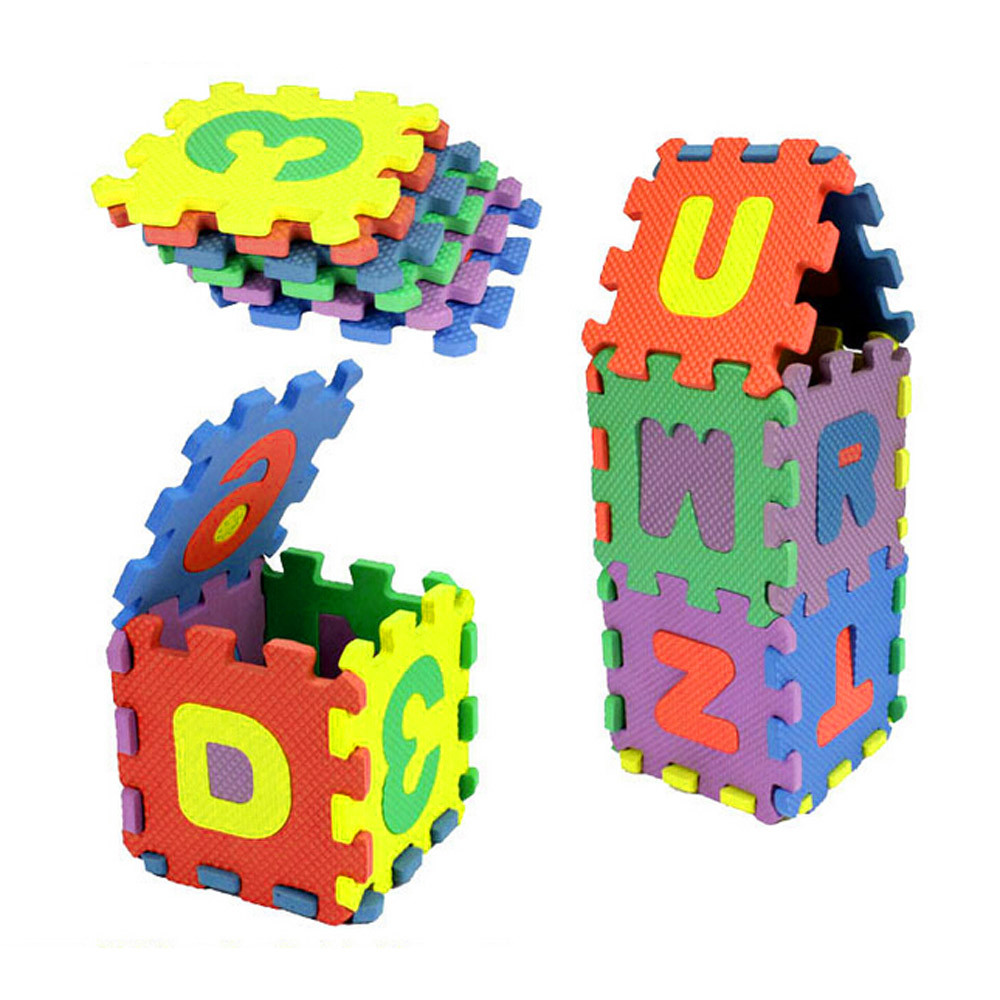 36Pcs ABC flashcards Baby Child Number Alphabet Puzzle Foam Maths Educational Toy Gift whole pack Foam Mat Toy HOOLER