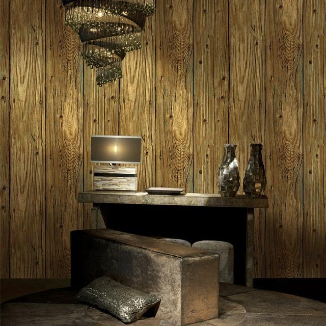 3D Holz Tapete Wohnzimmer Natrliche Vintage Streifen Geprgte Vinyltapeten Abdeckt Fr Moderne Haus Wand Abdeckung