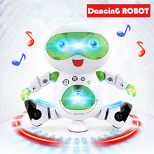 Купить с кэшбэком Children's ElectricToys Singing And Dancing Intelligent Robots Baby Toys Luminous Robots Toys Singing And Dancing Toys Stroller