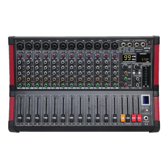 Freeboss MINI12 Bluetooth Record 12 Kanalen (Mono) 99 Dsp Effect Usb Spelen En Opnemen Functie Professionele Audio Mixer