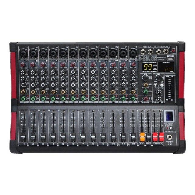 Freeboss MINI12 enregistrement Bluetooth 12 canaux (Mono) 99 DSP effet USB fonction de lecture et denregistrement table de mixage Audio professionnelle