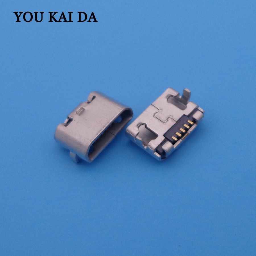 500pc Mobile phone USB Jack Cable socket Small Horn MINI Micro female usb charging port connectors