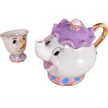 New Cartoon Beauty And The Beast Teapot Mug Mrs Potts Chip Tea Pot Cup One Set Lovely Gift