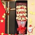 Hechos a mano 16 del oso de peluche flores exquisito embalaje caja de regalo de graduación moda regalo del día de san valentín regalo envío gratis