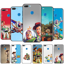 Black Silicone Case Bag Cover for Huawei Honor 10i Y7 Y6 Y5 Y9 8X 8C 8S 9 10 Lite Pro 2018 2019 Enjoy 9E 9S Toy Story John(China)