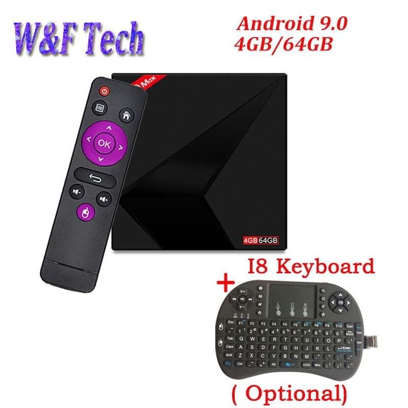 MX10 MAX Android 9 0 TV BOX 4GB 64GB Rockchip RK3328 2 4G 5G dual WIFI