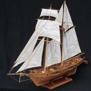 NIDALE Scale sail boat model kits HARVEY wooden Assembly