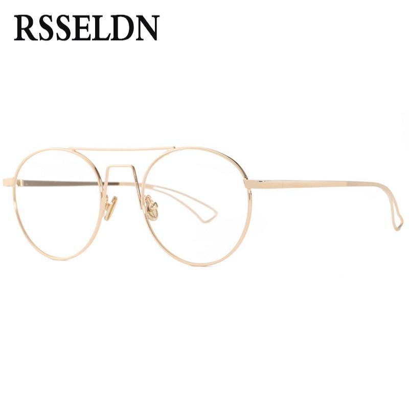 RSSELDN Neueste koreanische retro runde brille rahmen trend männer ...
