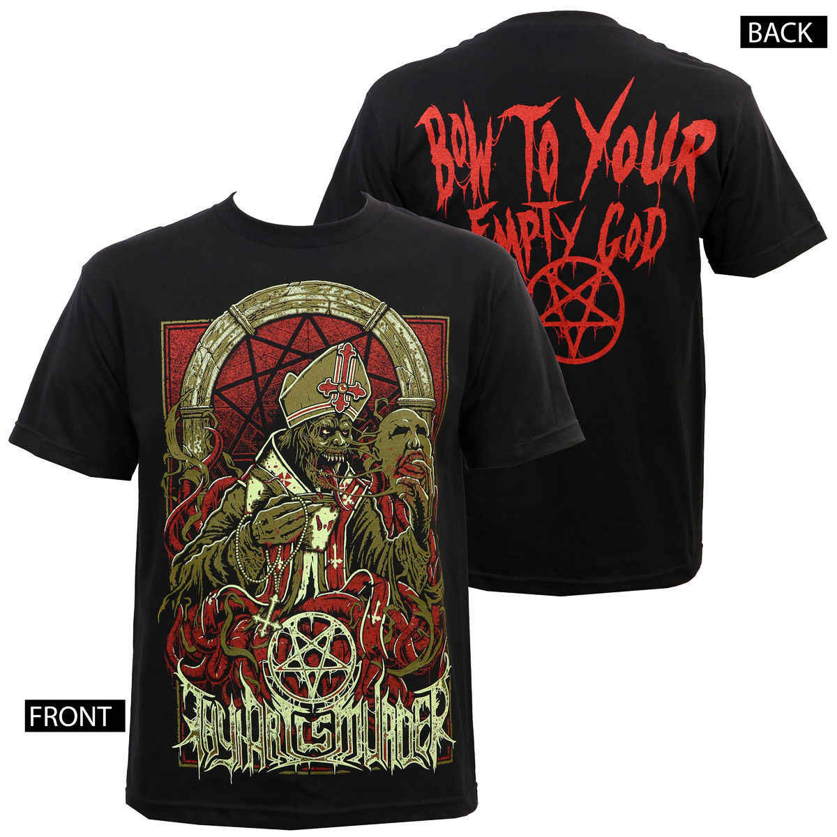 Authentic THY ART IS MURDER Band Evil Pope T-Shirt S M L XL 2XL 3XL NEWLoose Black Men T shirts Homme Tees