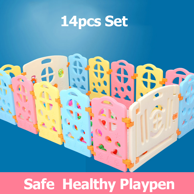 Various combinations Colorful baby game playpen toy fence for children 12+2 set baby game gate t3184b educational toy coin slide chip game toy playing toy set