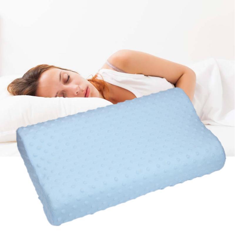 Doux taie d'oreiller s lentement rebond mémoire mousse espace taie d'oreiller s cou cervicale santé 50X30X9 cm mémoire taie d'oreiller