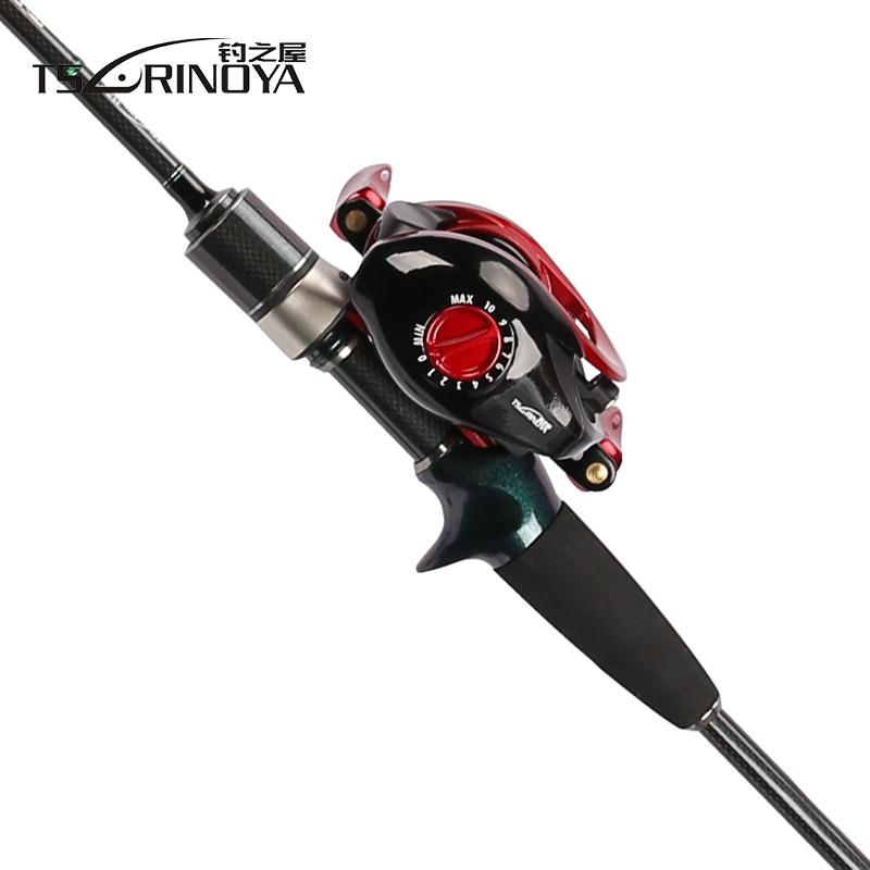 TSURINOYA Lure Fishing Rod Combo and Reel Full Kit Casting Fishing Reel Gear Pole Set 100M Fishing Line Lures Hooks Jig Head