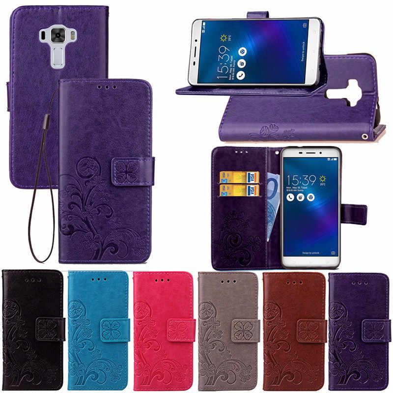 Etui en cuir pour asus ZC551KL Zenfone 3 Laser ZC551 ZC 551 KL 551KL Téléphone étui asus Z01BD Z01BS ASUS_Z01BD Housse