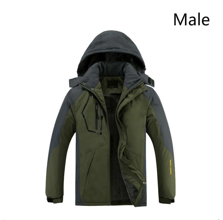 Hiver stormline hommes et femmes ajouter polaire épaississement extérieur manteau coupe-vent et imperméable grande taille alpinisme veste de ski