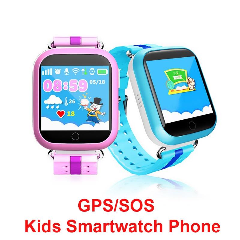 imágenes para Niños gps smart watch smartwatch q750 pk q90 q50 bebé reloj de la Pantalla Táctil GPS Wifi Ubicación SOS Llamada DeviceTracker niños Watchs