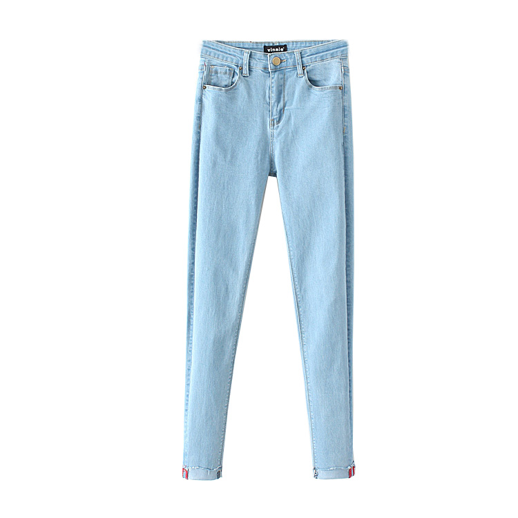 ФОТО In the spring of 2017 NEW WOMENS stretch slim wash old jeans pants curling