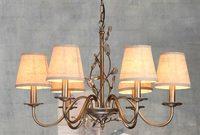 Simple American Iron Chandelier Lampadario Chandelier Lustre dining room lamp