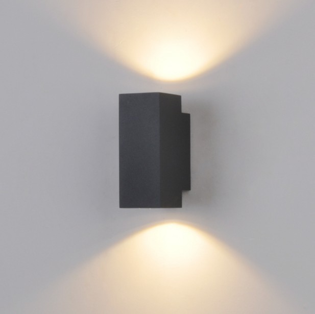 ФОТО 10W Led Wall Lamps Outdoor Porch Lights Aluminum COB Led Lamp Up Down Lighting FIxture