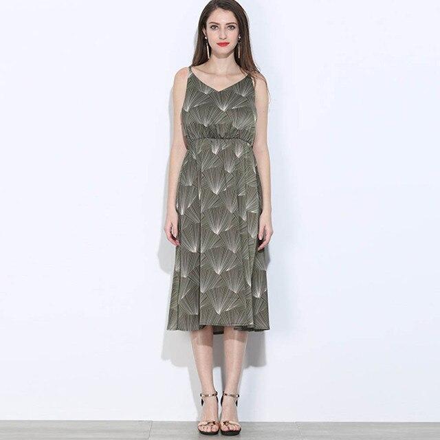 Hot Sale Green Summer Dress New Cute Sleeveless Plus Size Dress