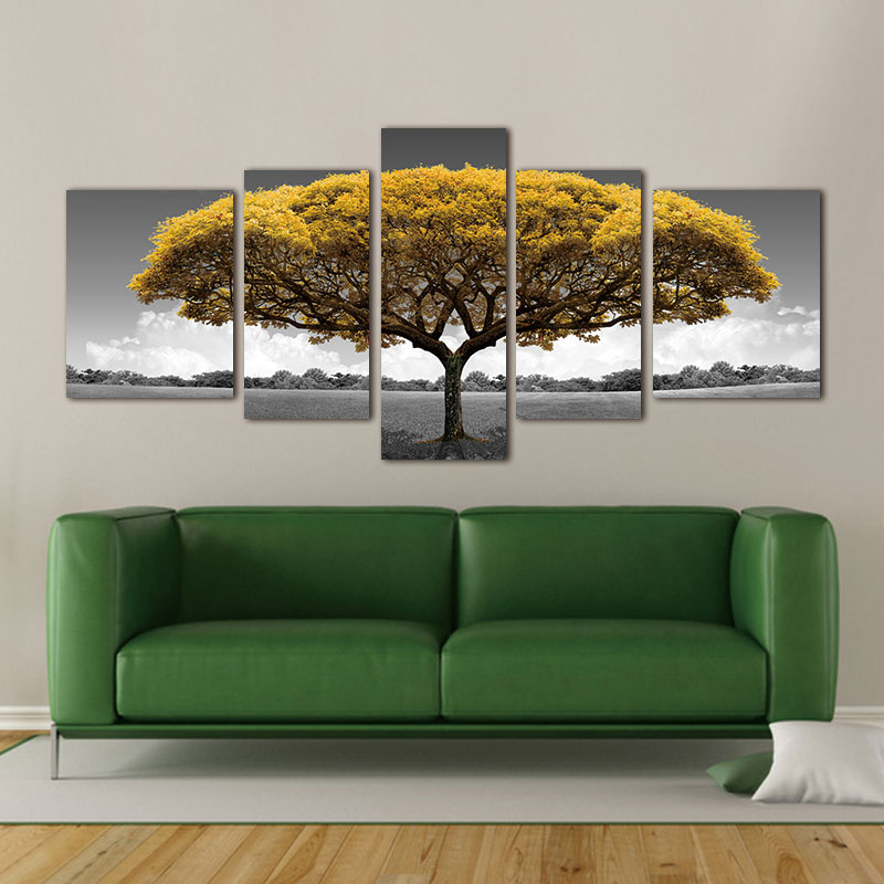 prints on canvas Poster Canvas Painting Art wall picture tree abstract ptints and posters Beautiful scenery decor painting
