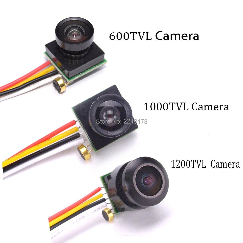 Micro 600TVL/1000TVL 1.8mm Large vue 170 degrés/1200TVL 150 Degrés Couleur Vidéo FPV Caméra avec Audio PAL pour FPV Mini Drone