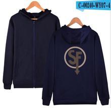 Sally Face Zipper Hoodies Men/Women Sweatshirts Hooded Game Hoody Boy/Girls Autumn Winter Cotton Polluvers
