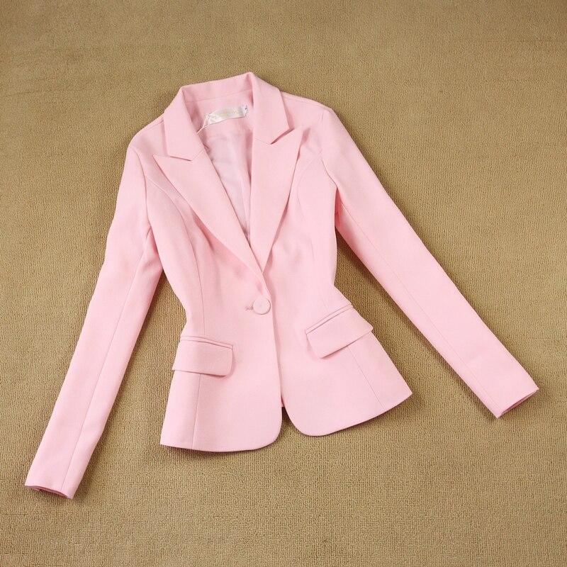 Womens pink suits blazer with pants two piece blazer woman's blazer suit set dress
