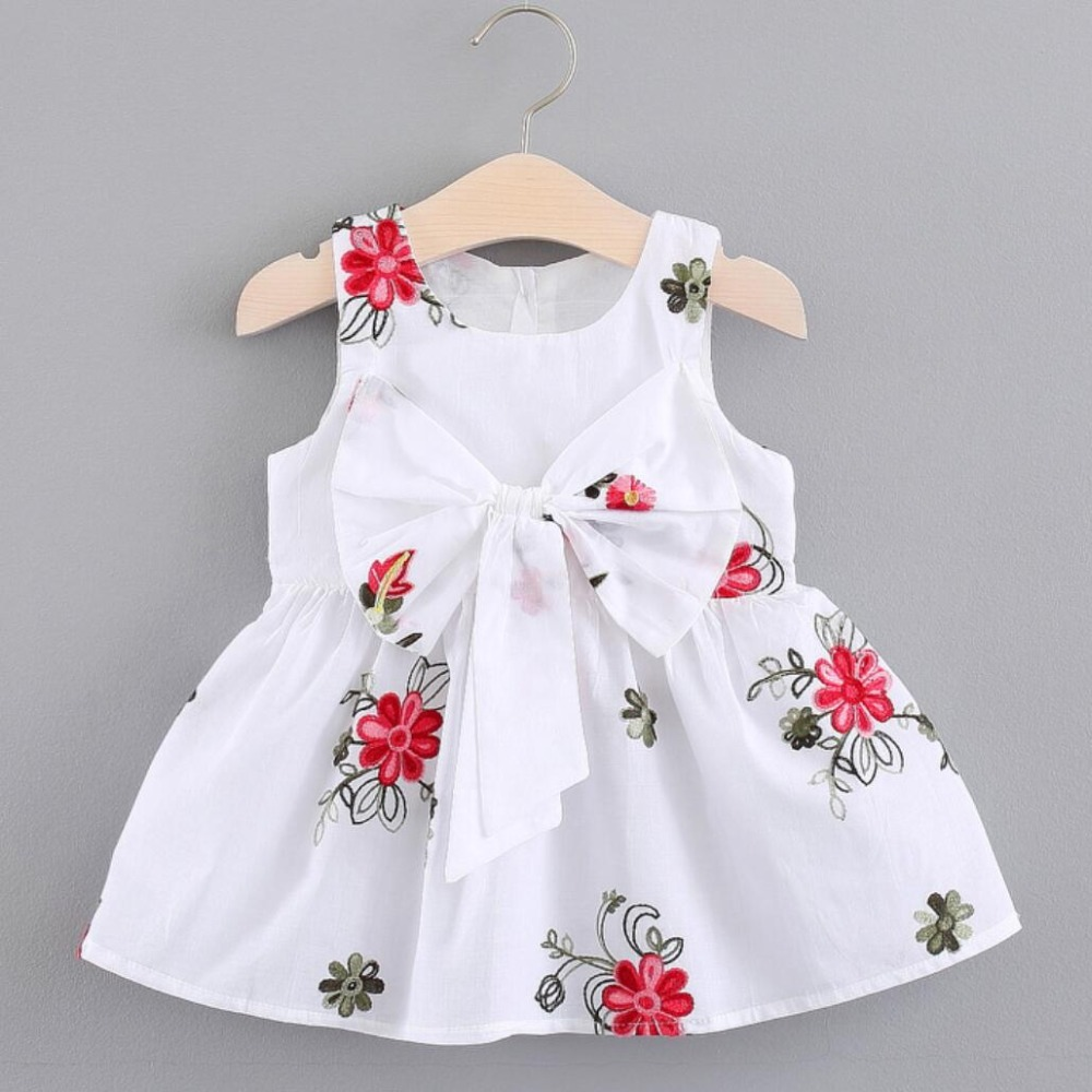 9aa16561bc 🛒 HOT SALE ❤ 2019 Baby Girls Dress Big Bowknot Infant Party ...