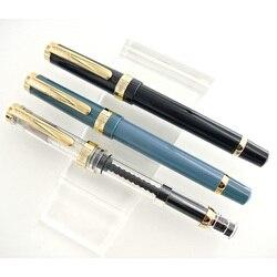 Wings wingsung Yong Sheng 698 14K Золотое перо демонстрационная прозрачная ручка с поршневыми чернилами