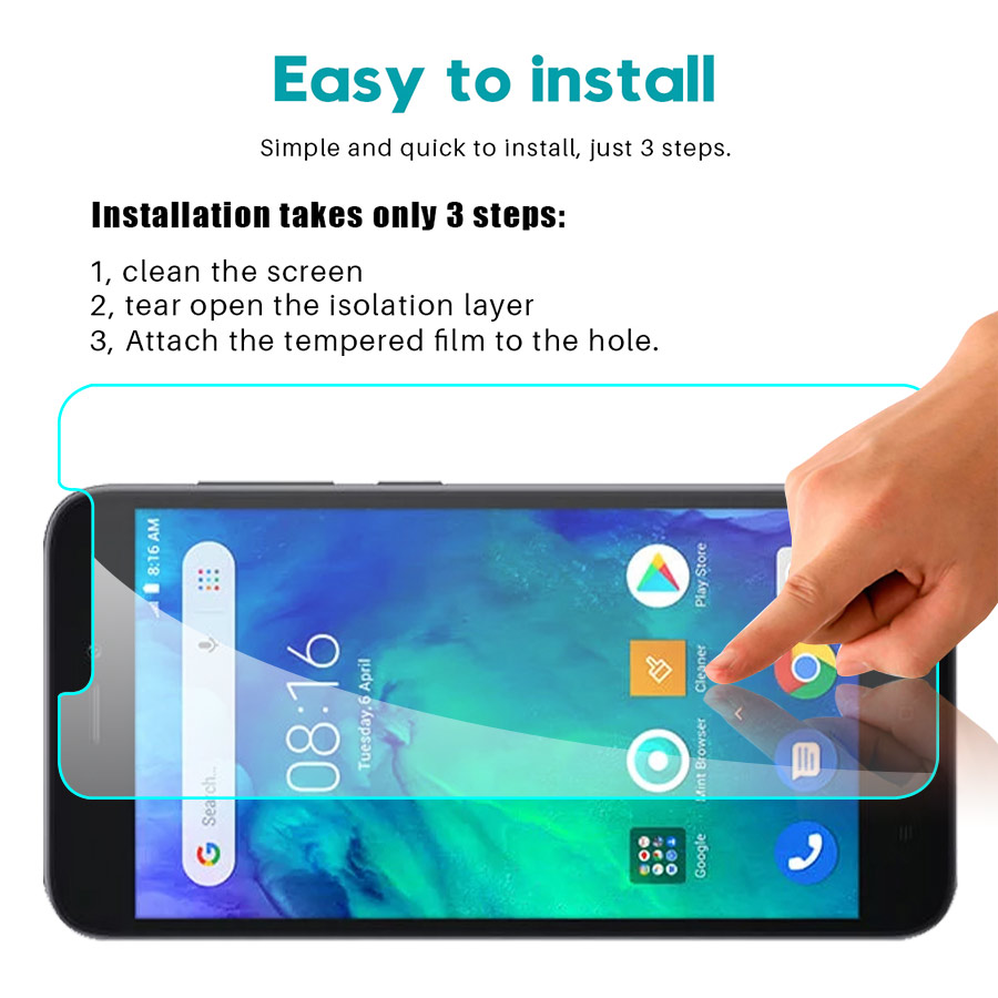 Image 3 - 2pcs Original Glass For Xiaomi Redmi Go Screen Protector Protective Glass on xiomi xaomi xaiomi ksiomi go Safety film 2.5d glas-in Phone Screen Protectors from Cellphones & Telecommunications