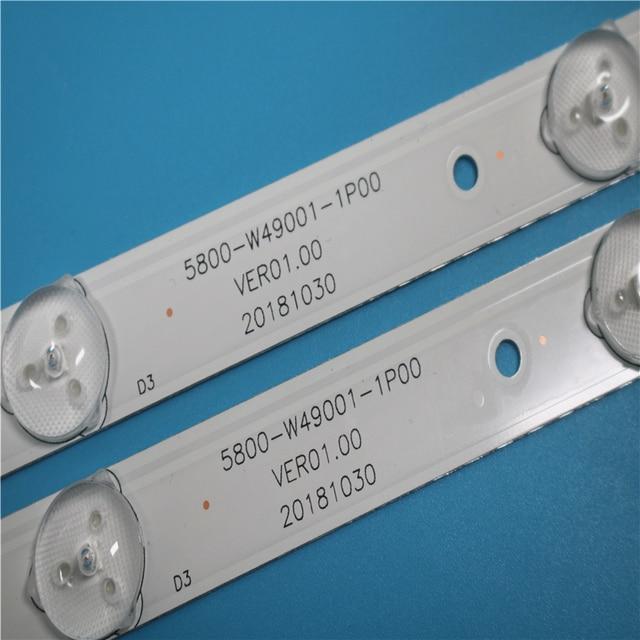 Led backlight for 49E3000 49E6000 49E360E/5ERS 5800 W49001 1P00 5800 W49001 0P00 5850 W50007 1P00 5800 W49001 DP00 480MM