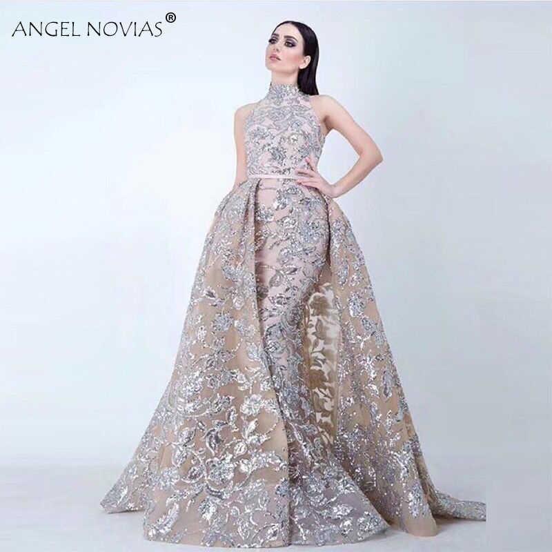 f60e1225d7 Detail Feedback Questions about ANGEL NOVIAS Long High Neck Glitter ...