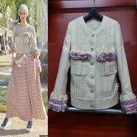 Женские Версаль серии куртка, большие размеры твид элегантные пальто, casaco, дамы Chaquetas Mujer уникальный jaqueta feminina, XS 5XL