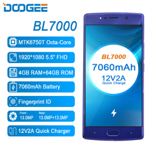 Doogee BL7000 4 GB 64 GB 4G Cep Telefonları Android 7.0 Octa Çekirdek Smartphone Çift Arka Kameralar 1080 P 5.5 inç Orijinal cep...