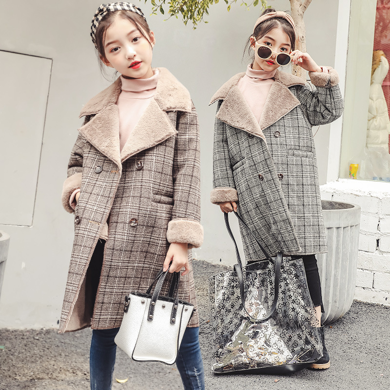 4 5 6 7 8 9 10 11 12 13 14 Years Girls Woolen Coat Autumn Winter Thickening Coat 2018 New Large Children's Woolen Long Jackets cnd creative play вase coat 13 6 мл page 7