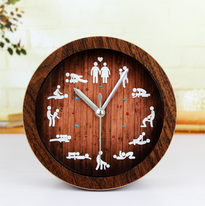 Fun Do The Old Wooden Table Alarm Clock24 Hours Of Sexualsex Love