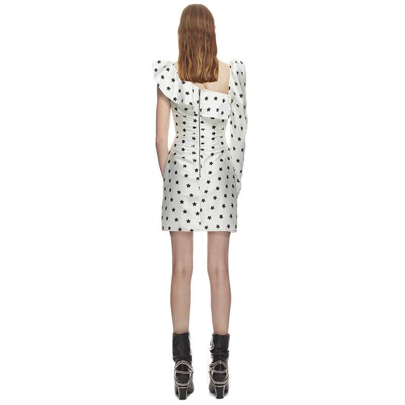Étoile Robe Une Asymétrique Femme Seifrmann Robes 2018 Mini Épaule Sexy Imprimer Été Pour IqxEA1R8w