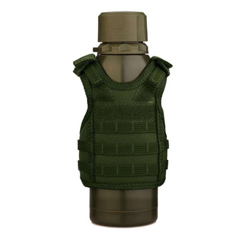 Beer Vest Mini Tactic Military Vest For Beer Bottle Miniature Wine Bottle Cover Vest Beverage Cooler Camping Hiking Accessories Volume Large Camping & Hiking Sports & Entertainment