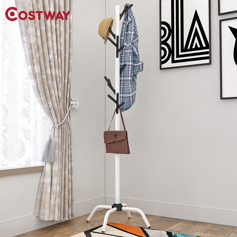 COSTWAY Clothes Hanger Coat Rack Floor Hanger Storage Wardrobe Clothing Drying Racks porte manteau kledingrek perchero de pieCOSTWAY Clothes Hanger Coat Rack Floor Hanger Storage Wardrobe Clothing Drying Racks porte manteau kledingrek perchero de pie