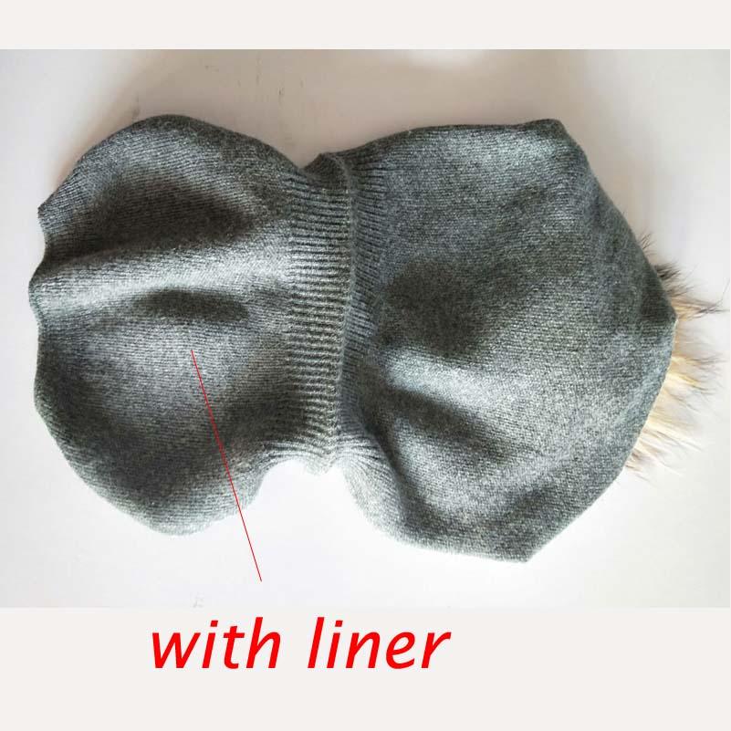 Musim dingin Musim Gugur Pom Pom Beanies Topi Wanita Rajutan Wol - Aksesori pakaian - Foto 5