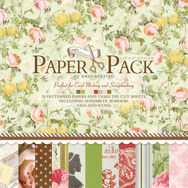 Online Shop 12 Paper Designer Vintage Scrapbook Paper For Diy