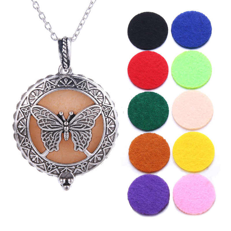 Silver Elephant Aroma Diffuser necklace Essential Oil Diffuser Aromatherapy Pendant DIY Perfume Lockets Pendant Necklace