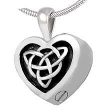 Stainless Steel Cremation Jewelry Pattern Black Heart Memorial Ash Keepsake Urn Necklace IJD82558 цена 2017