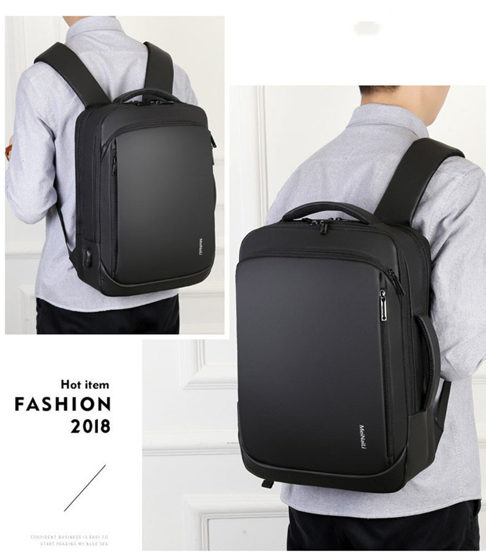 17 Inch Laptop Backpack 15.6 Mens Male Backpacks Business Notebook Mochila Waterproof Back Pack USB Charging Bags Travel Bagpack (18)