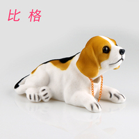 Car accessories accessories display creative will move the cute puppy doll car put Shake head to swing bulldog pet statue