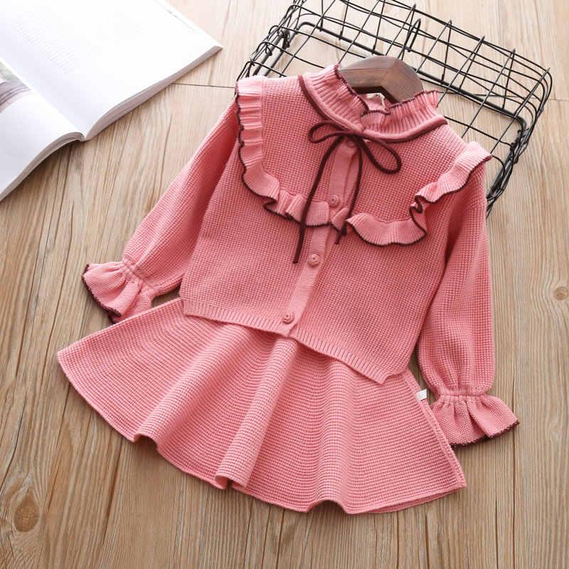 57cd7ea8b7905db Детский осенне-зимний комплект одежды для девочек, детский хлопковый  комплект из 2 шт.